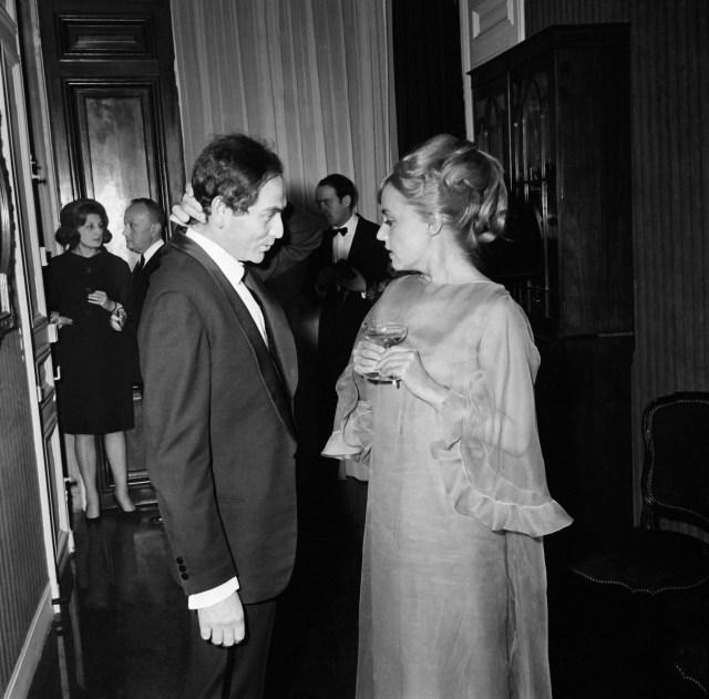 Jeanne Moreau e Pierre Cardin nel 1965
