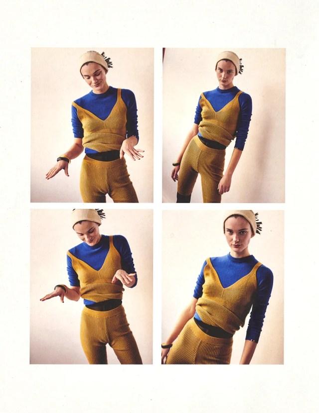 Top & shorts Ami Amalia, Sweater Extreme Cashmere, Headband Monki, Bracelet Vintage