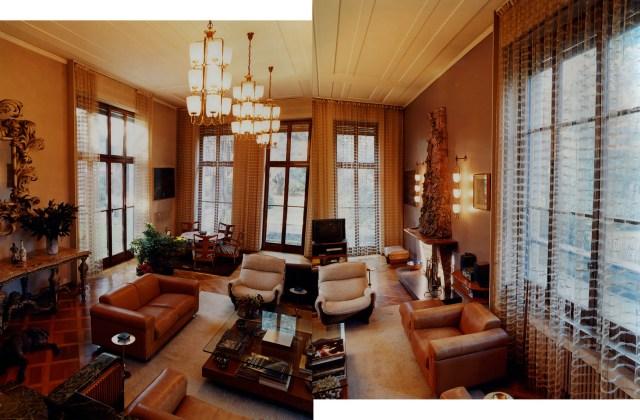 Il salone di Villa Borsani. Foto courtesy Michael Baumgarten.
