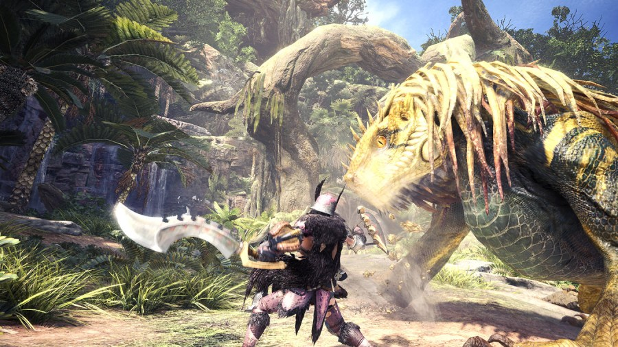 Monster Hunter  World   Xbox Attacking a monster with Dual Blades