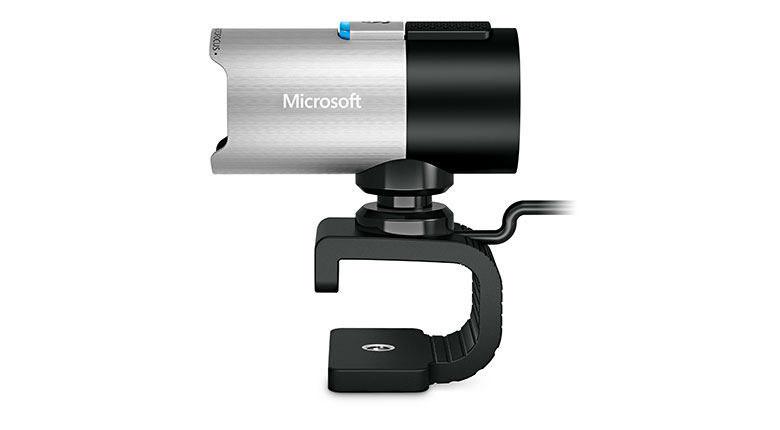Side view of Microsoft LifeCam Studio Webcam