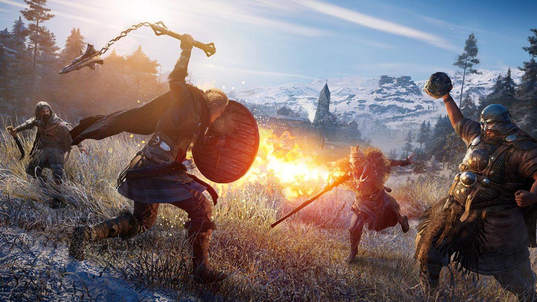 Una batalla de Assassin's Creed Valhalla