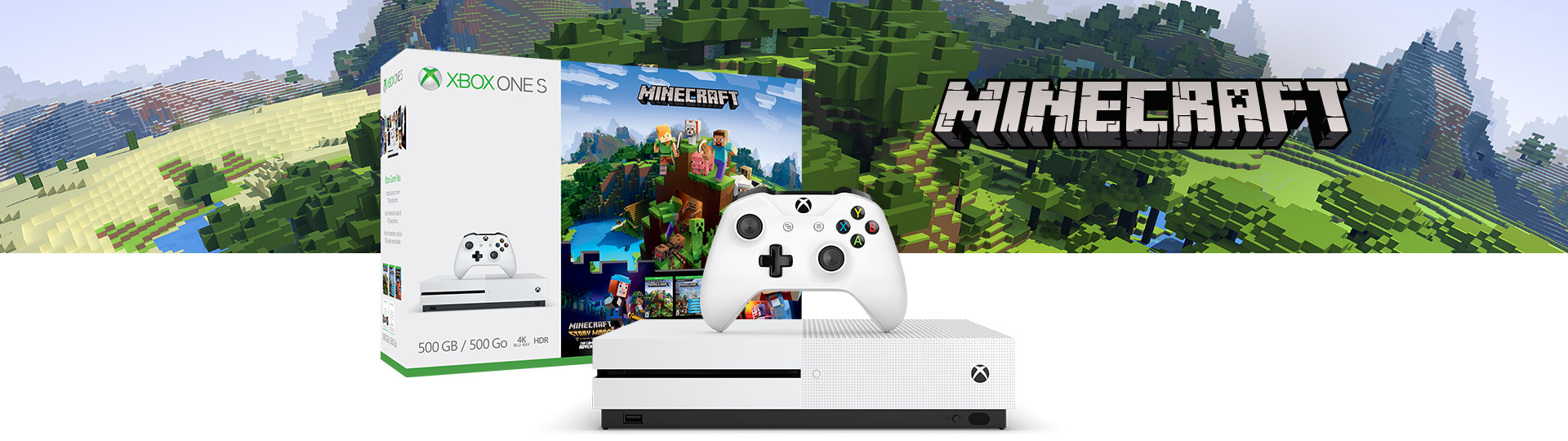 Zestaw Minecraft Complete Adventure z konsolą Xbox One S (500 GB)