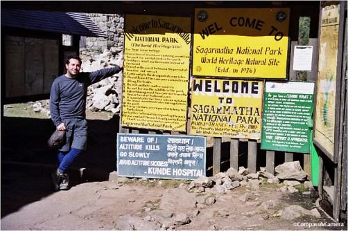 Sagarmatha National Park entrance