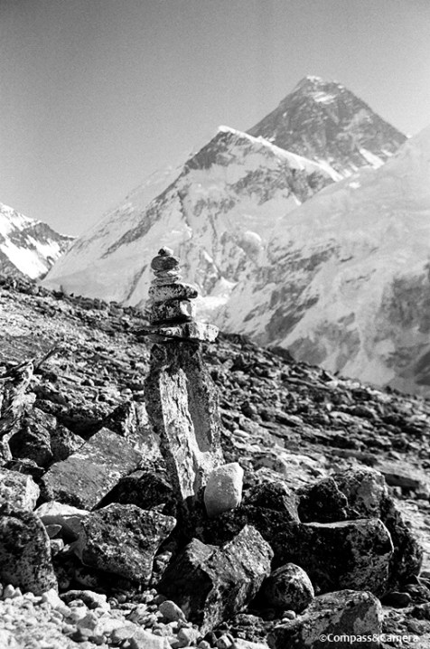 Cairn and Mount Everest