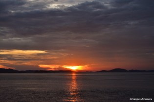 Telunas Island sunset