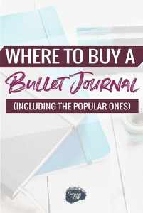 where to buy a bullet journal