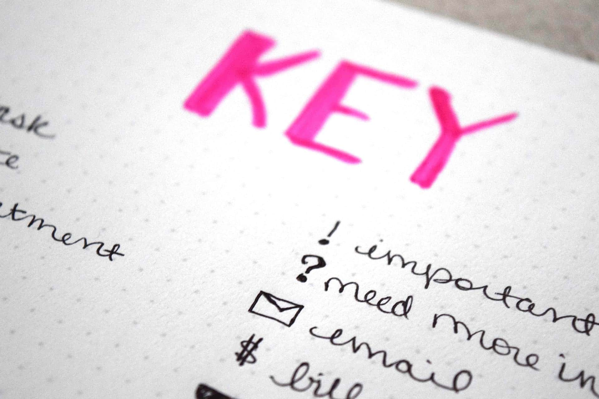 How to Make the Bullet Journal Key Work For You