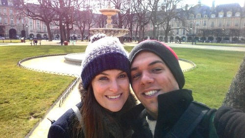 Pete & Antonia in Place des Voges