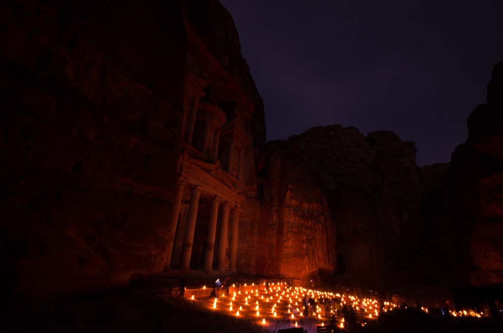 Bedouin music wavers with the candlelight