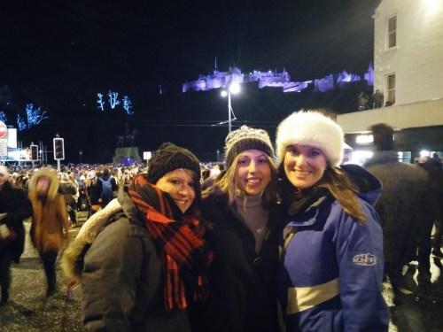 Jen, Ash & Antie at Hogmanay
