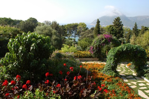 Formentor's beautiful gardens