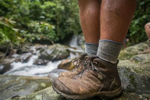 Boots in the Colombian jungle