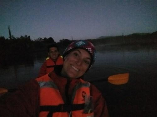 Awkward kayak selfie