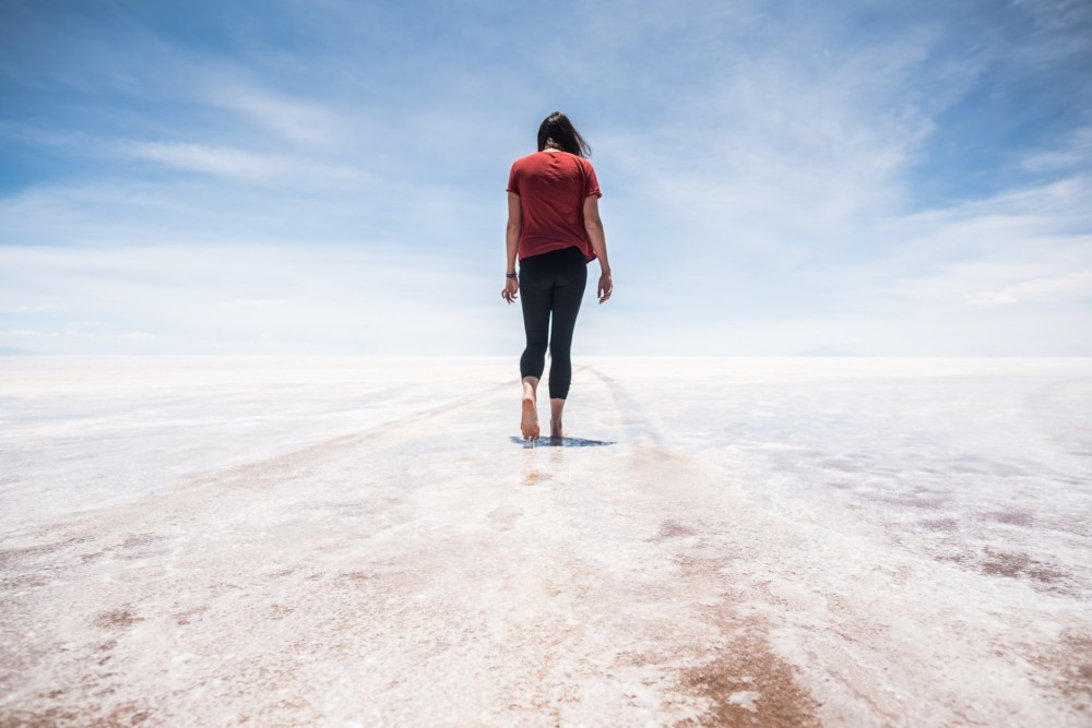 Antie on the Salt Flats in Bolivia