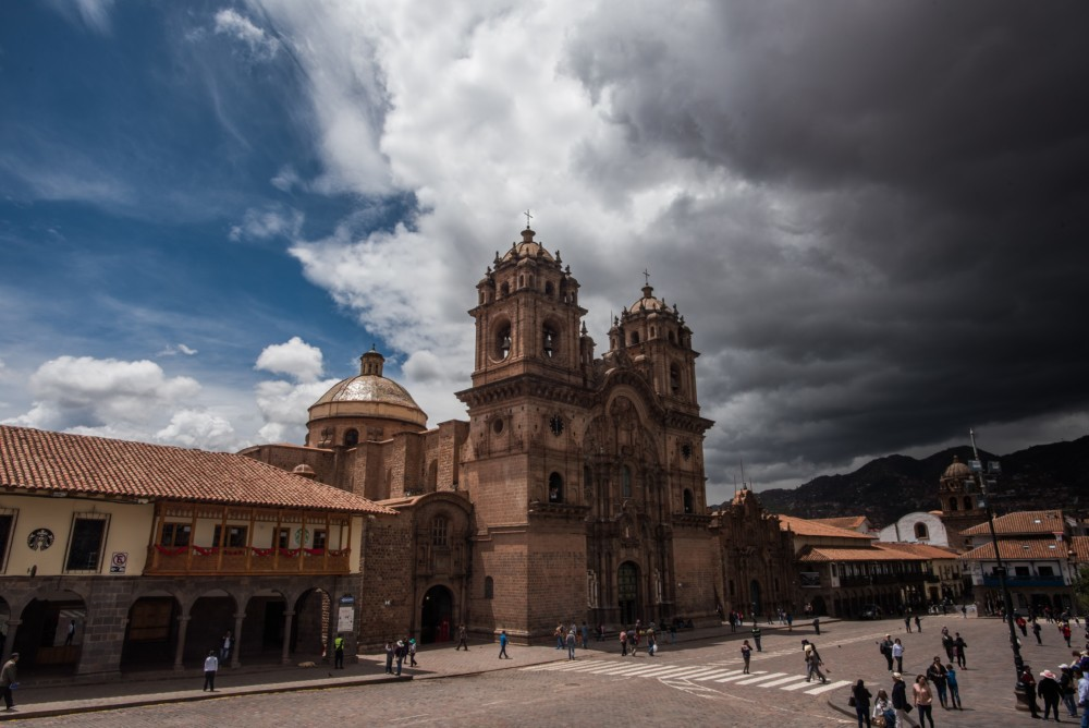 Storm clouds rolling in over Cusco