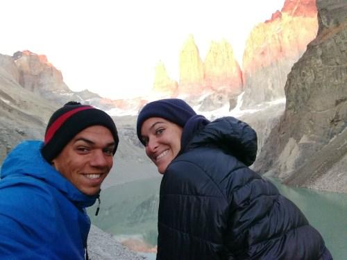 Pete & Antie at the Torres del Paine