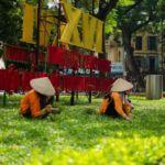 Workers in Hanoi