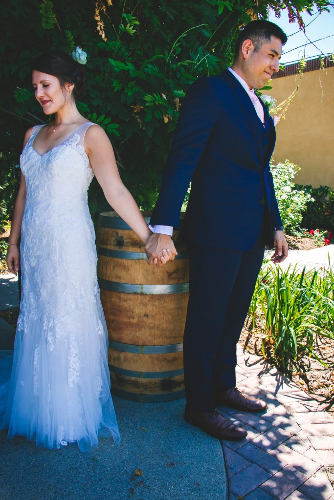 First look letter reading at lorimar winery wedding venue