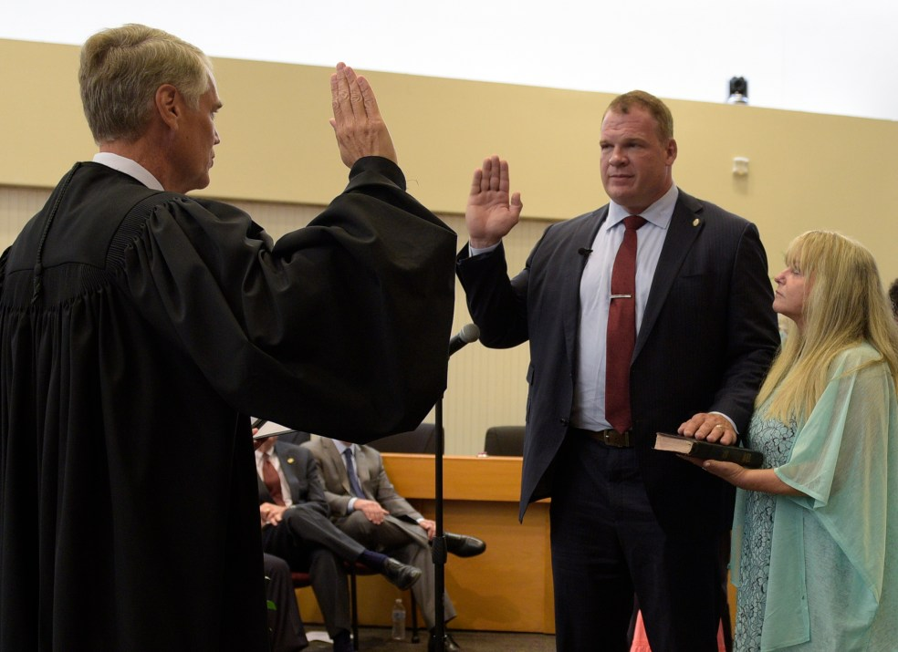 Glenn Jacobs' swearing-in.