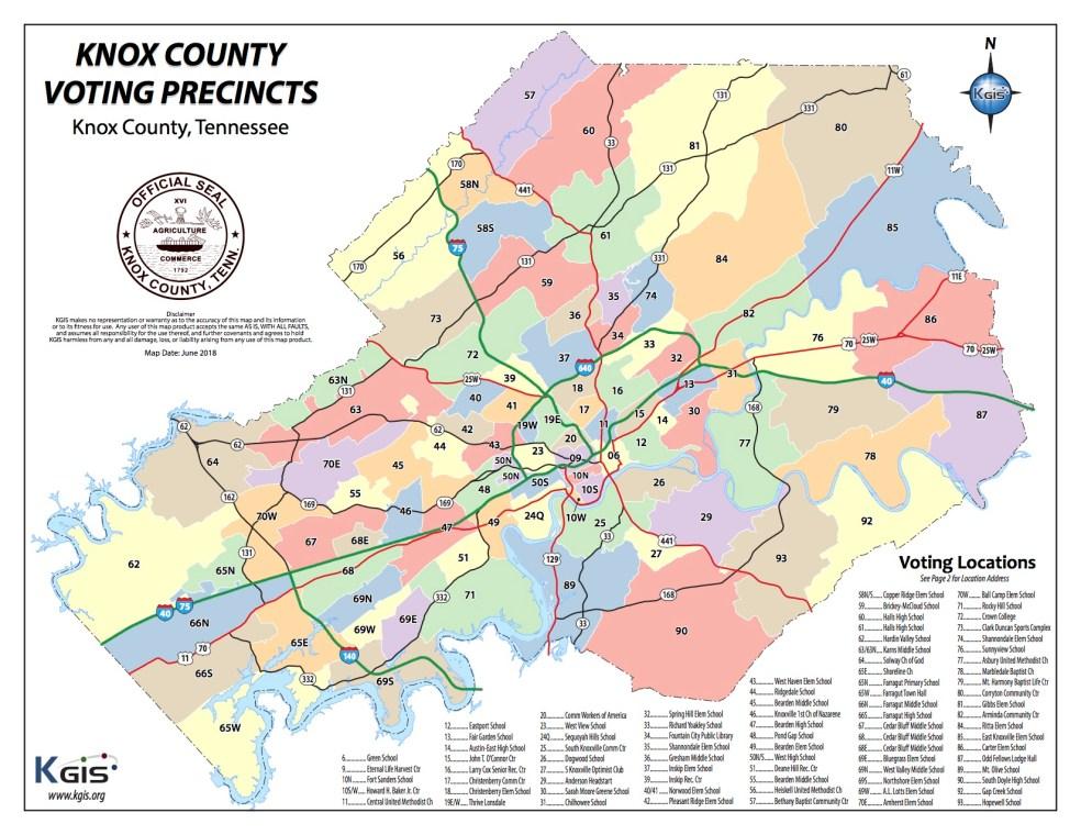 Knox County voting precincts