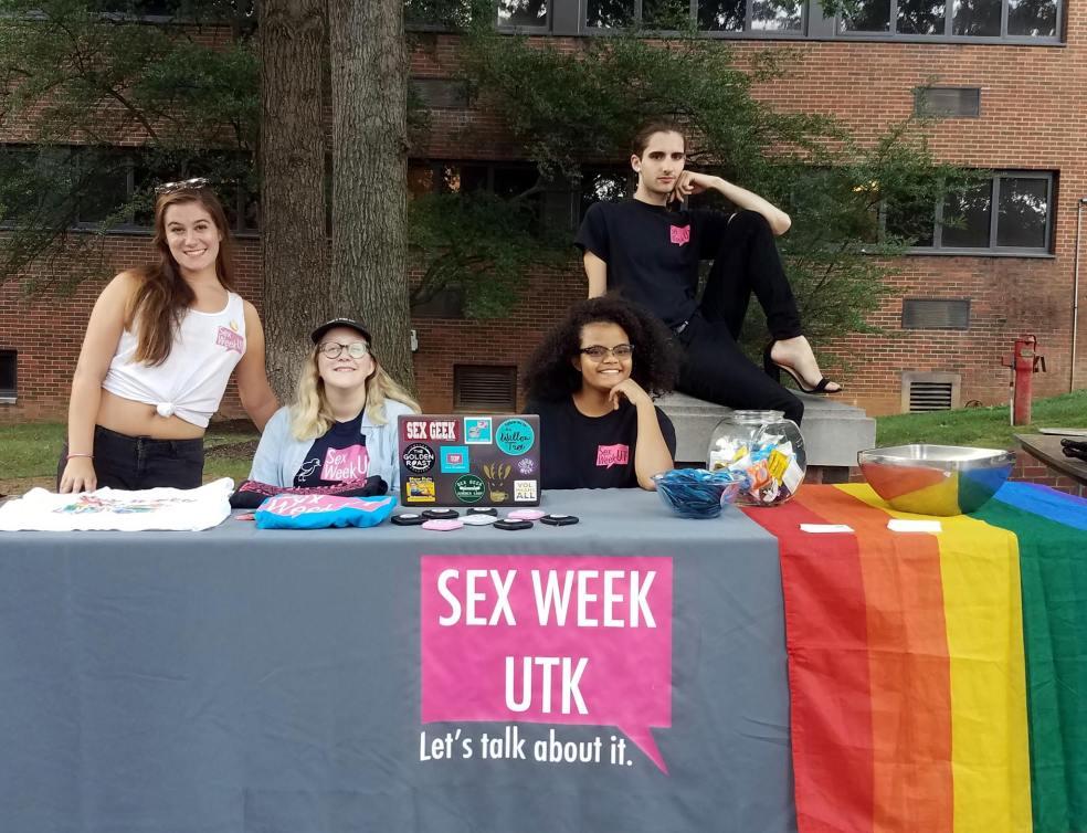 Sex Week volunteers at UTK.