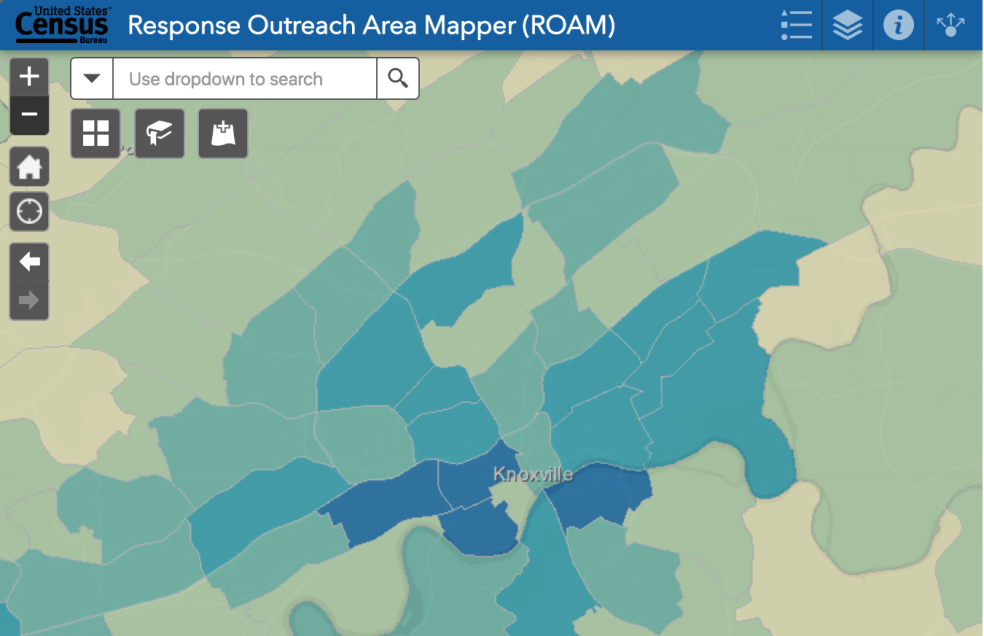 Map from Census website