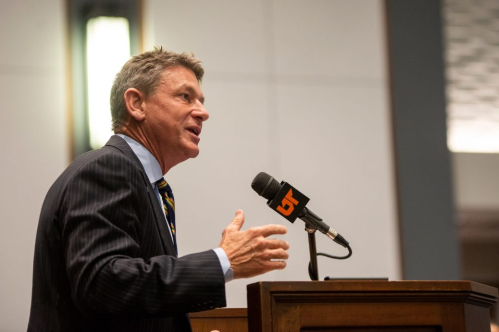 Randy Boyd speaking to the UT Board of Trustees
