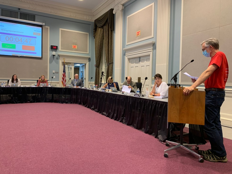 School board budget meeting