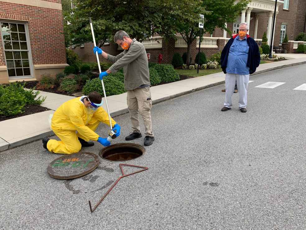 Terry Hazen oversees wastewater testing
