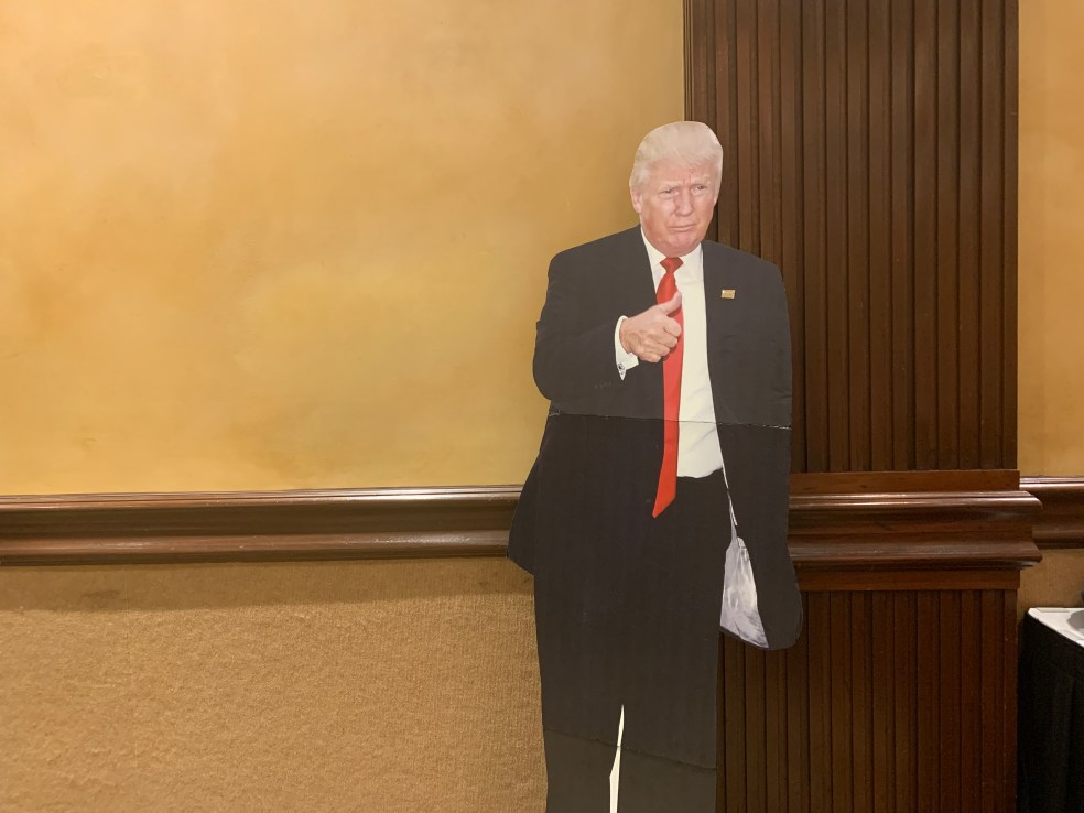 Trump cut-out