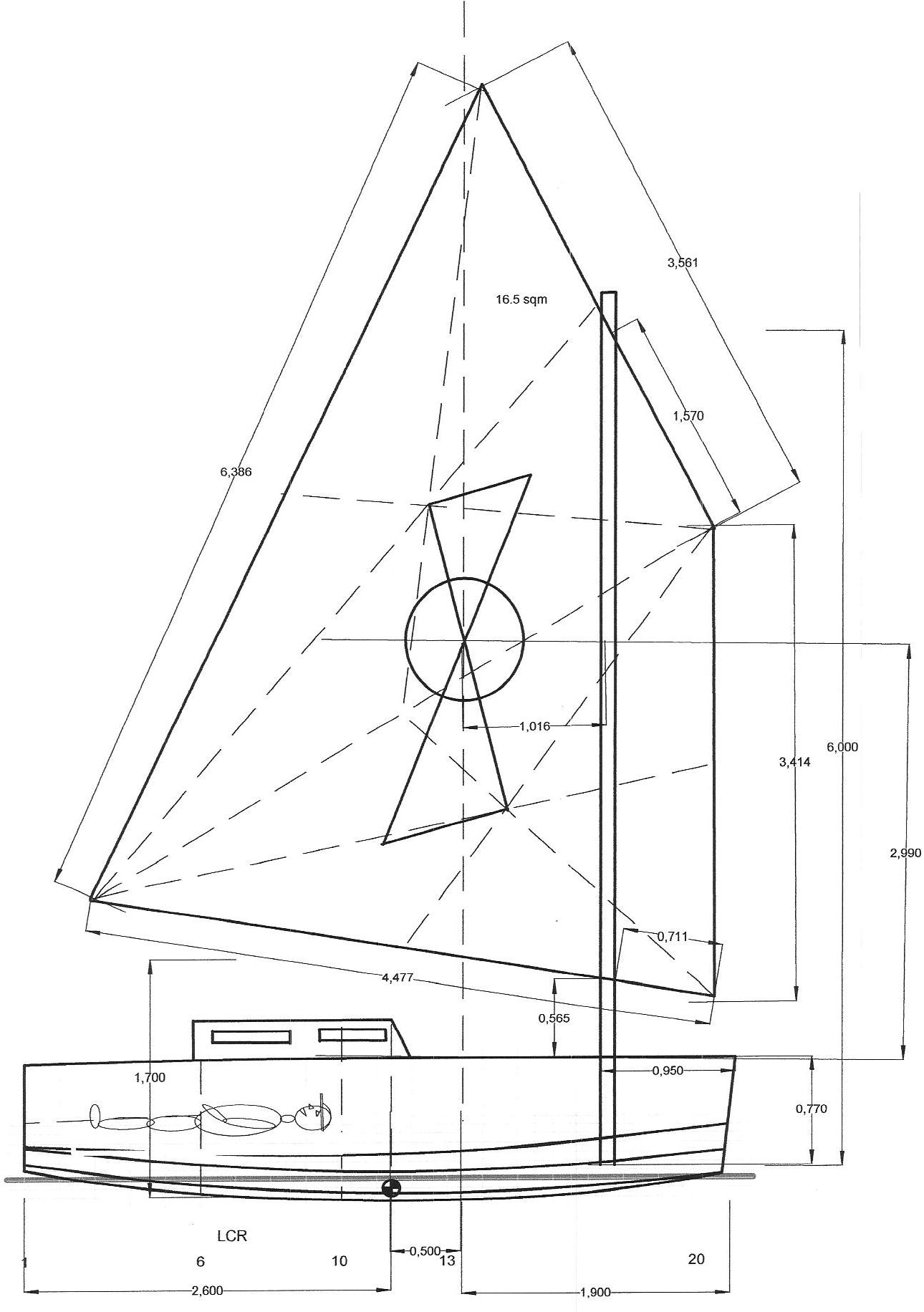Balanced Lug Sail Compaxboats