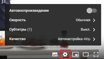 Tetapan Pemain YouTube.