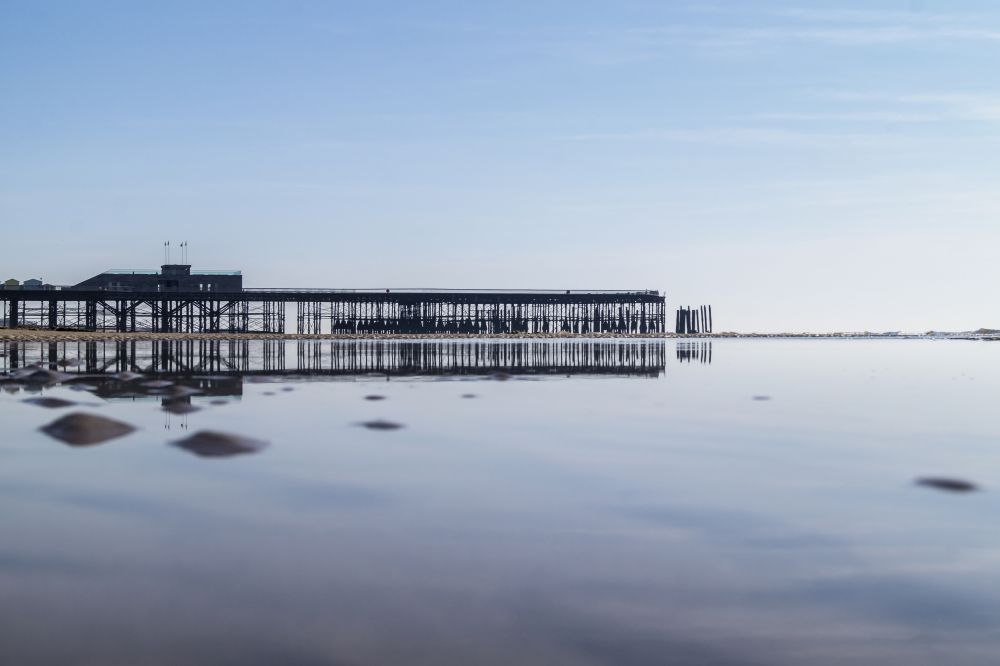 Hastings Pier Reflected