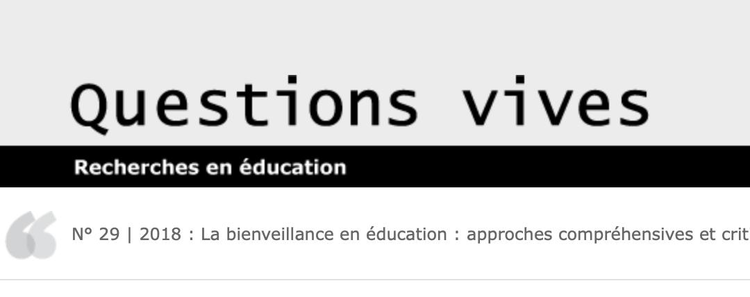 Bienveillance en éducation ?