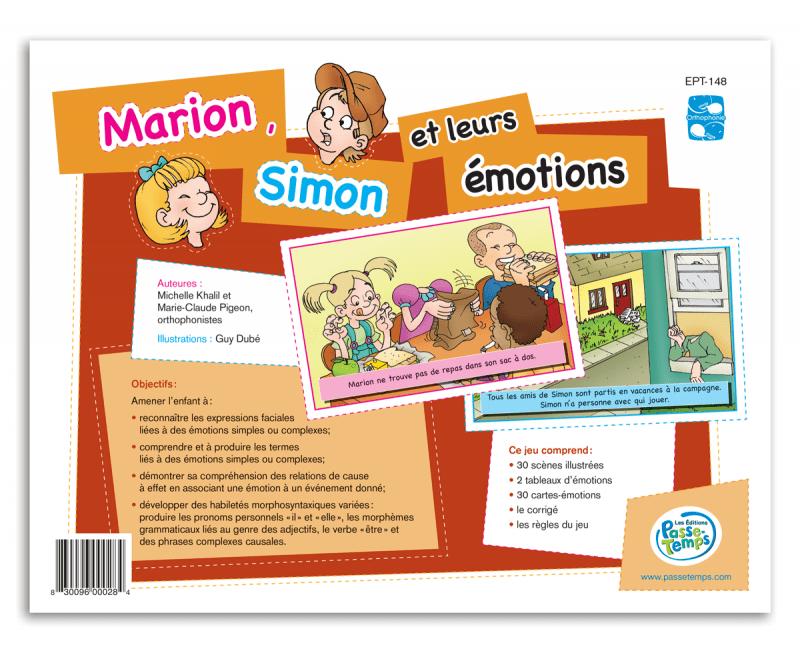 Marion, Simon et leurs émotions