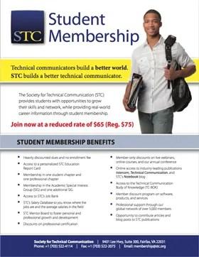 2018 Student Membership flyer