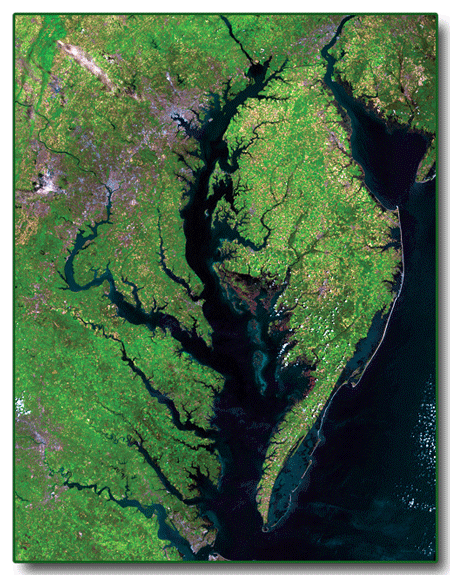 Landsat 5 image of Chesapeake Bay area
