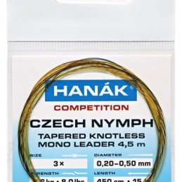 Hanak Czech Nymph Tapered Knotless Mono Leader 450cm