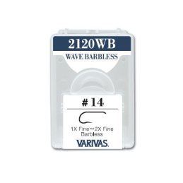 Varivas 2120WB Wave Barbless Dry Fly Hooks (30 Pack)