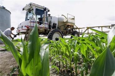 Photo by Seth Perlman/Associated Press A farmer refills his sprayer with the weed killer glyphosate on a farm near Auburn, Illinois.
