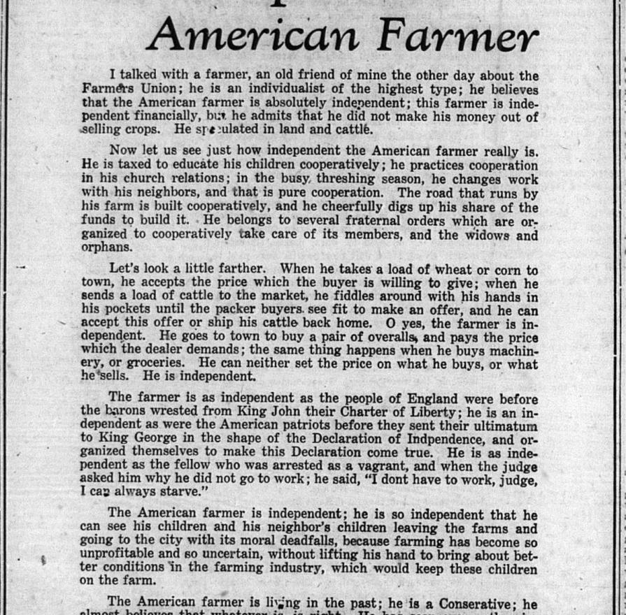 The independant American Farmer, 1929