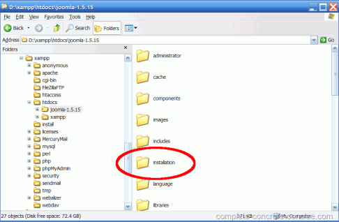 joomla-1.5.15-delete-installation-directory-1