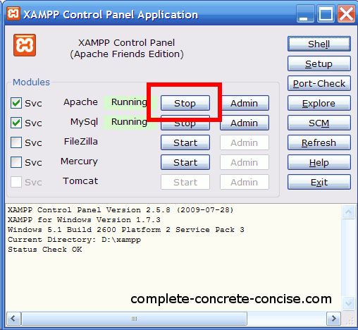 how to run xampp localhost