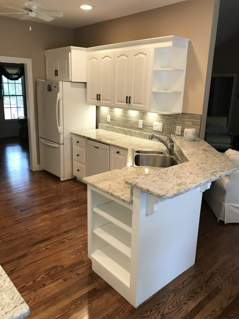 Maple Cabinets Refinished to a Custom White | Complete ... on Maple Cabinets  id=45537