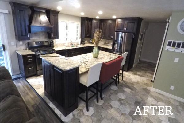 Stunning brown kitchen after