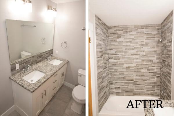 after custom tile bathroom
