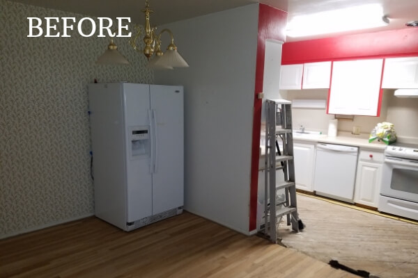 before white kitchen remodel