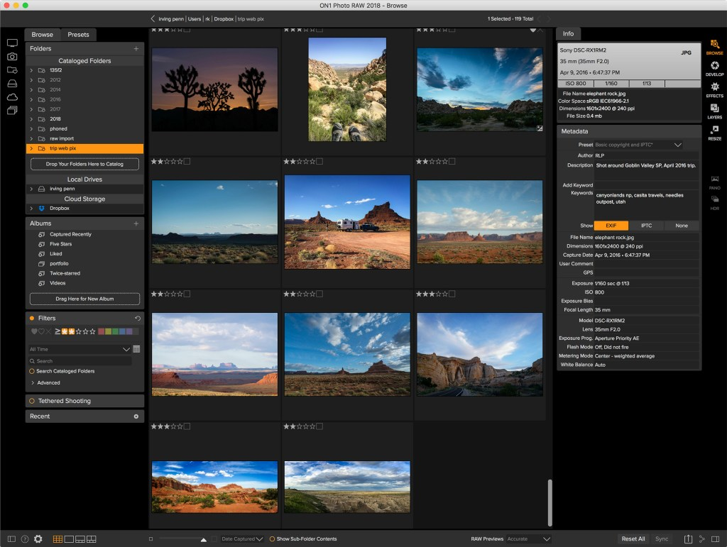 Photo RAW Browse module
