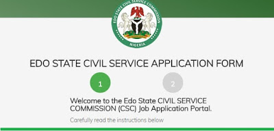Edo State Civil Service Commission Massive  Graduate Job Recruitment June 201 33 Positions.